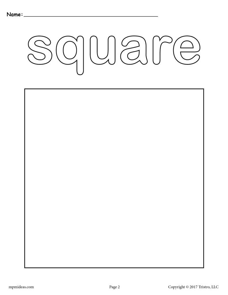 Square Coloring Pages  FREE Square Coloring Page Shapes Coloring Pages – SupplyMe