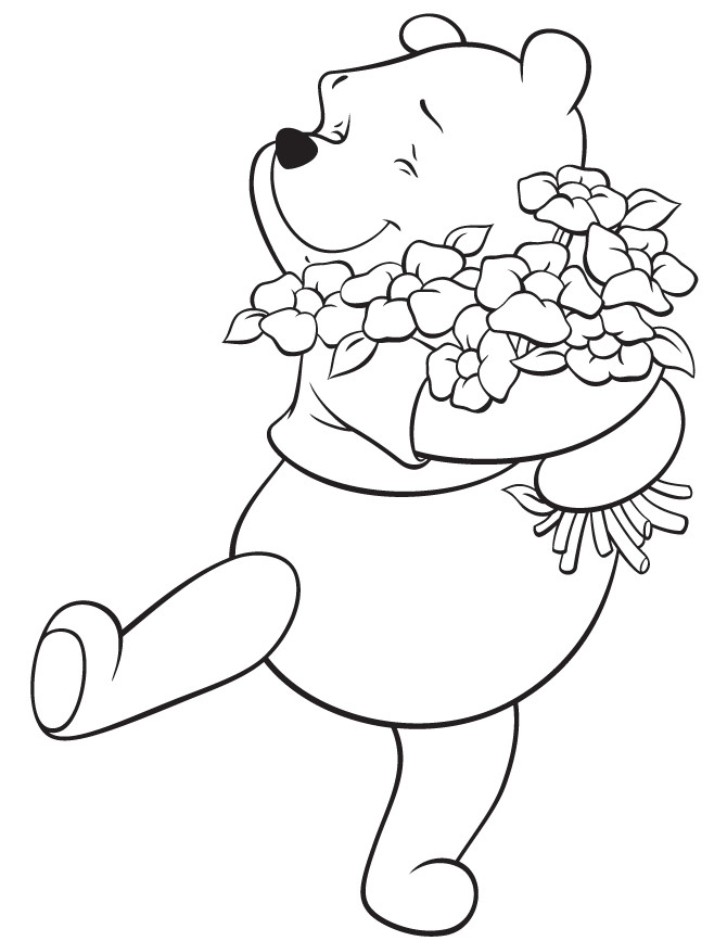 St Patrick'S Day Coloring Sheet  Winnie the Pooh St Patrick s Day Coloring Pages Free