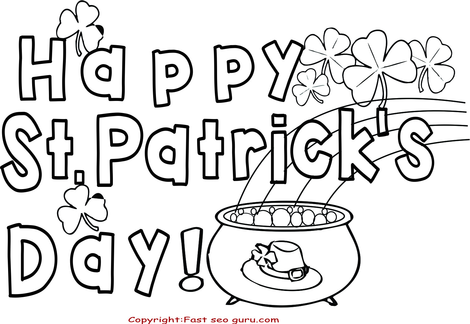 St Patrick'S Day Coloring Sheet  83 Printable St Patricks Day Coloring Pages St Patrick