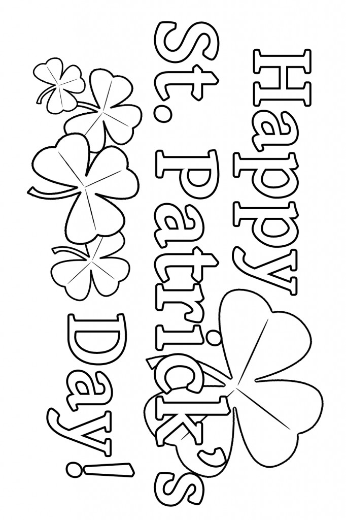 St Patrick'S Day Coloring Sheet  St Patrick s Day Coloring Page