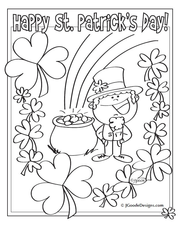 St Patrick'S Day Coloring Sheet  St Patrick s Day Coloring Pages for Adults Free