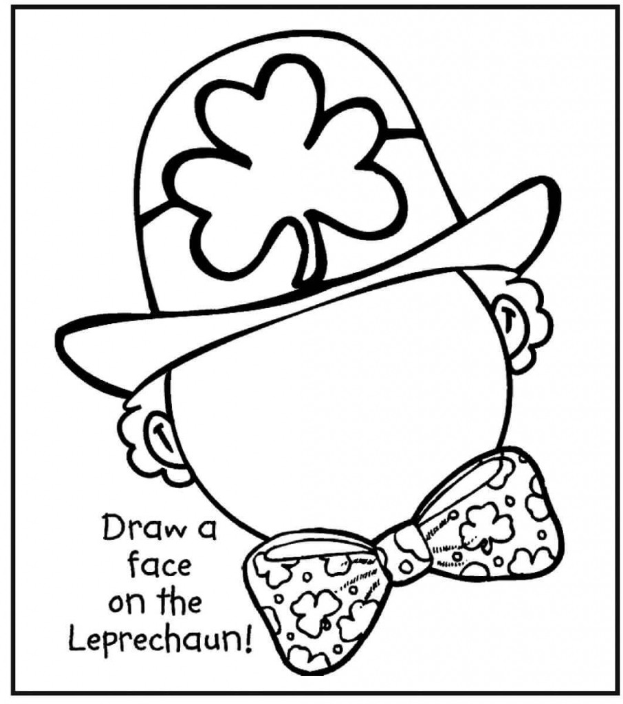 St Patrick'S Day Coloring Sheet  Free Printable St Patrick's Day Coloring Pages