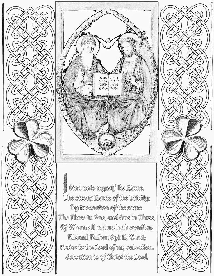 St Patrick'S Day Coloring Sheet  Life Love & Sacred Art Happy St Patrick s Day and FREE