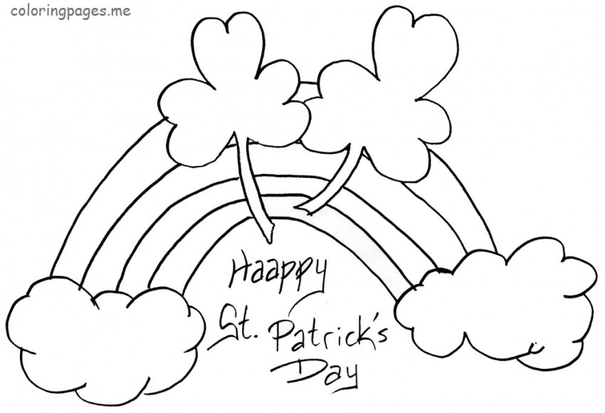 St Patrick'S Day Coloring Sheet  New St Patrick s Day Coloring Pages fg8