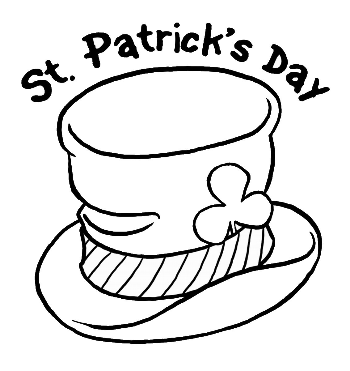 St Patrick'S Day Coloring Sheet  St Patrick s Day Coloring Pages for childrens printable