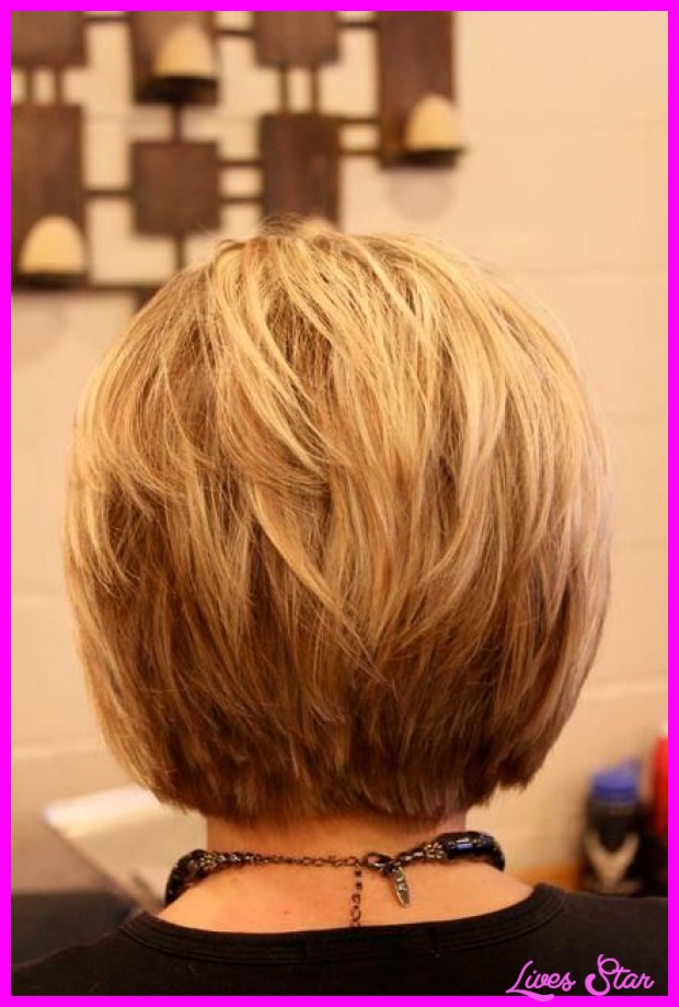 Stacked Bob Hairstyles  Back view of short hairstyles stacked LivesStar