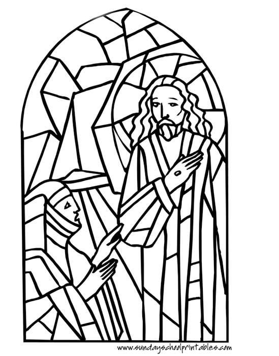 Stain Glass Coloring Pages For Boys  134 best Catholic Coloring Pages images on Pinterest