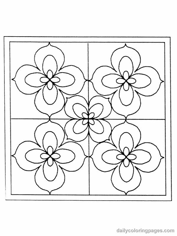 Stain Glass Coloring Pages For Boys  flower color pages for adults