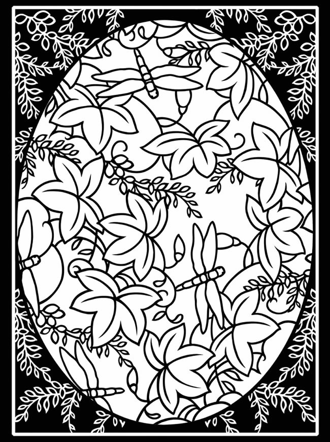 Stain Glass Coloring Pages For Boys  Adult Stained Glass Coloring pages Free Printable Coloring