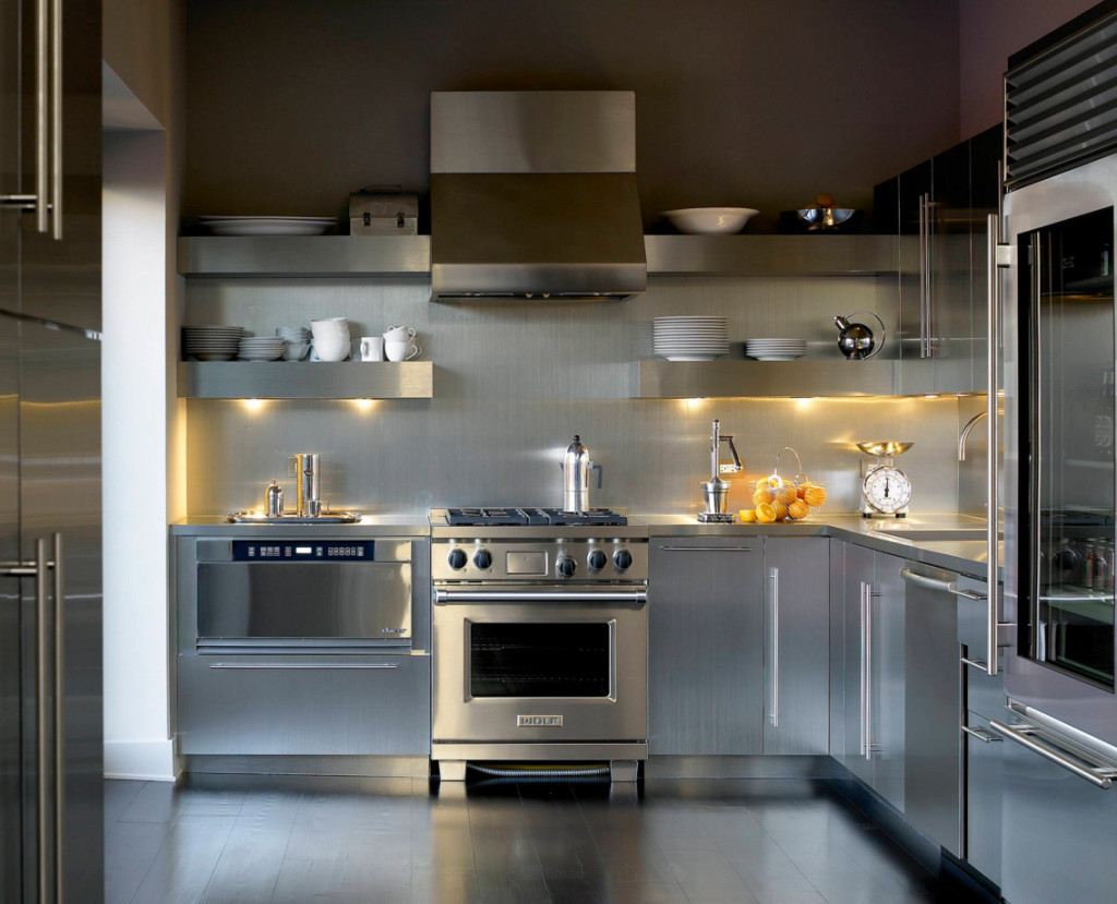 Best ideas about Stainless Steel Kitchen Decor . Save or Pin Interior Stainless Steel Floating Shelves Two Tiers For Now.