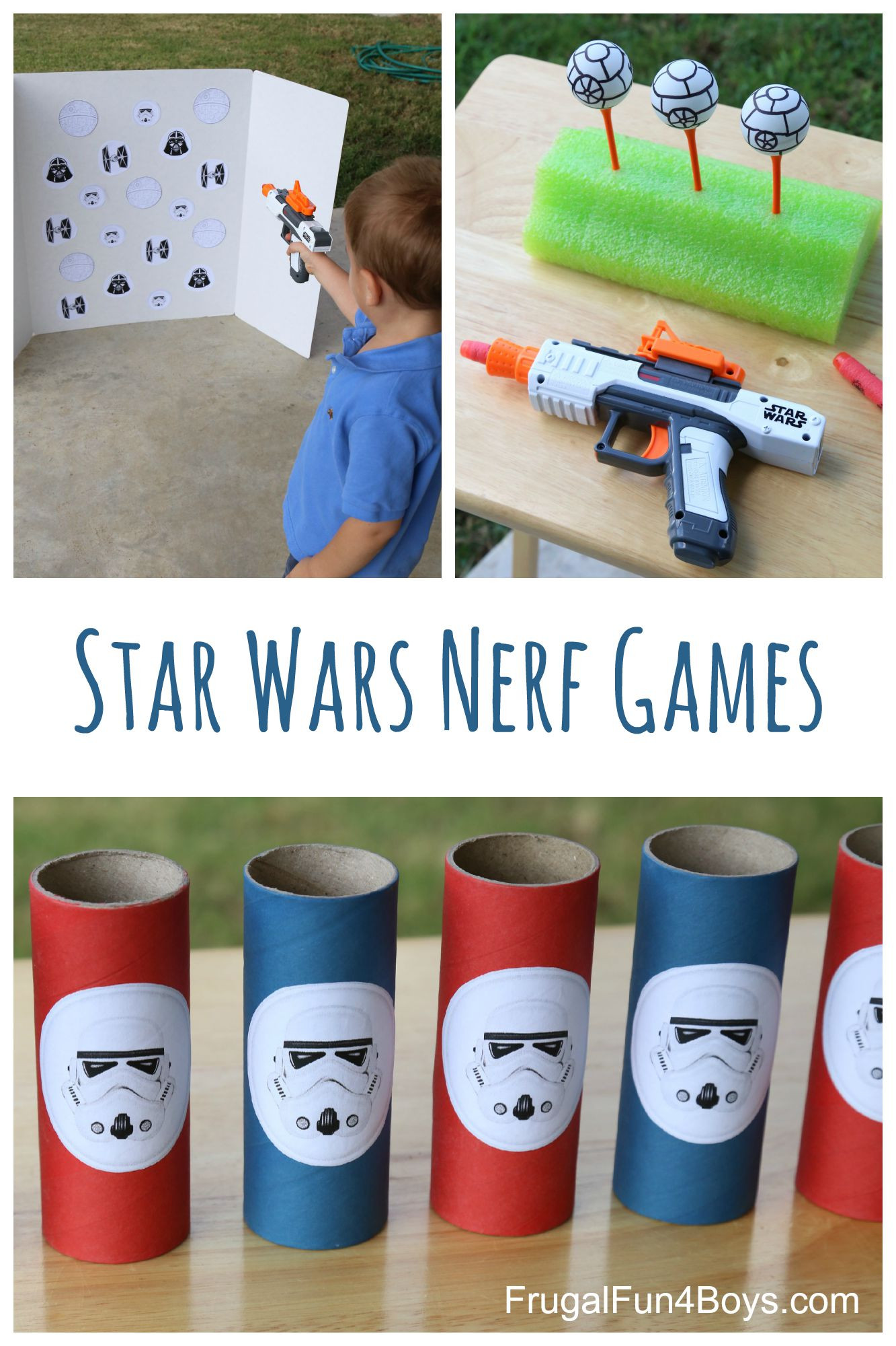 Star War Birthday Party Games  Star Wars Themed Nerf Games Frugal Fun For Boys