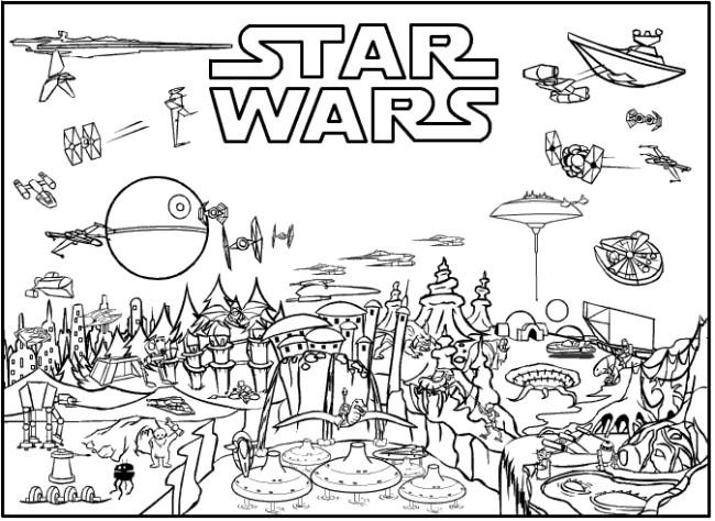 Star Wars Coloring Pages Printable  Star Wars Free Printable Coloring Pages for Adults & Kids