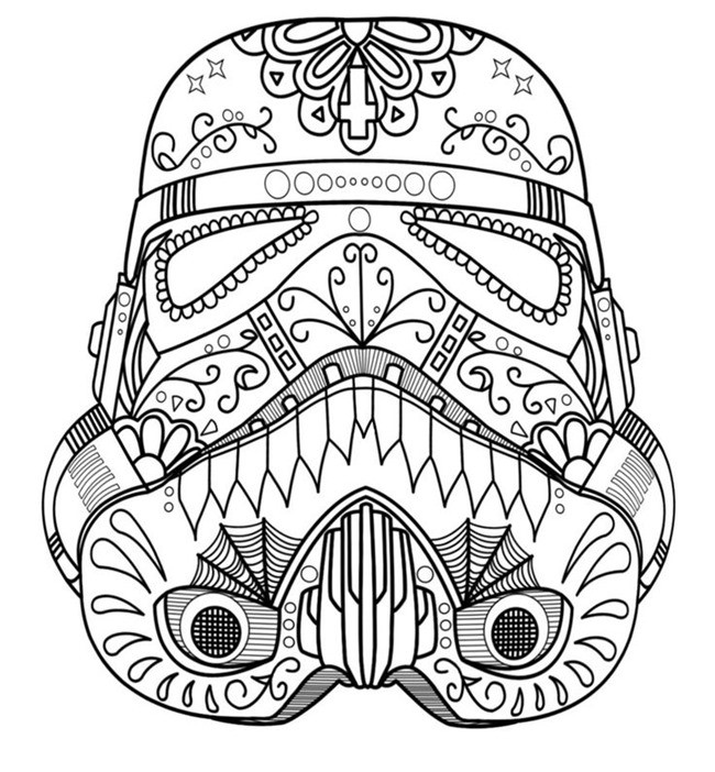Star Wars Printable Coloring Pages Kids And Adults  Star Wars Free Printable Coloring Pages for Adults & Kids