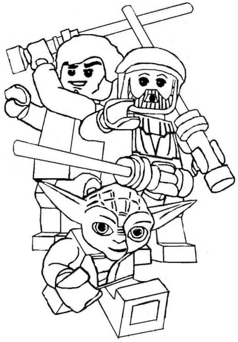 Star Wars Printable Coloring Pages Kids And Adults  Lego Star Wars Coloring Pages coloringsuite