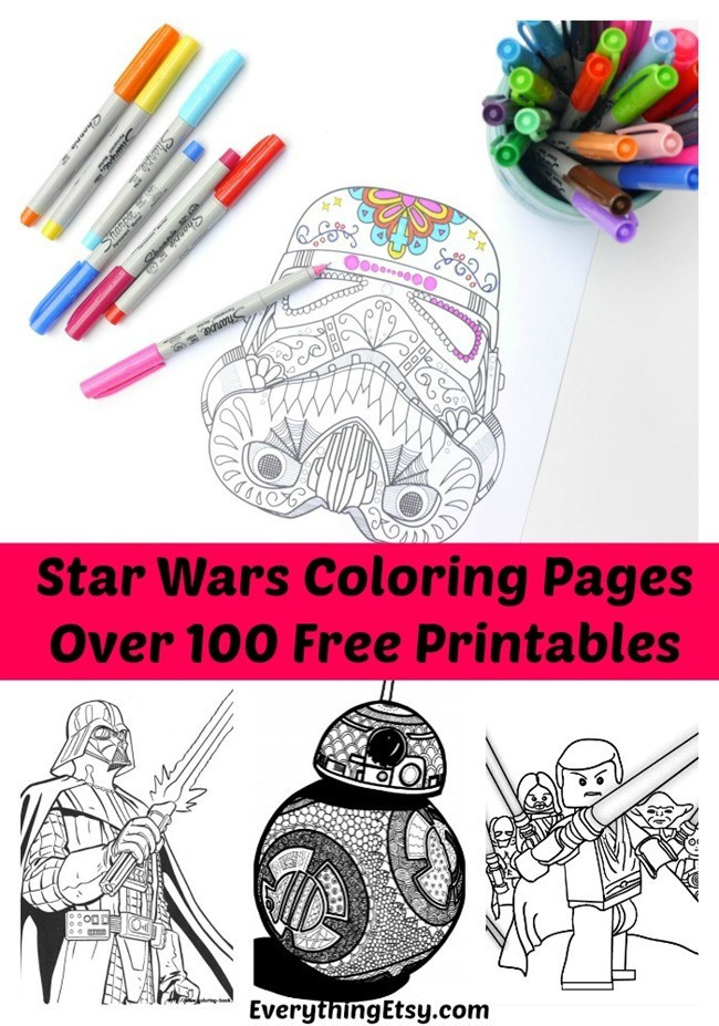 Star Wars Printable Coloring Pages Kids And Adults  MBRET I TREGUT