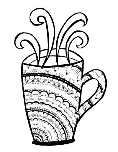 Starbucks Coloring Pages  Starbucks Coffee Drawing at GetDrawings