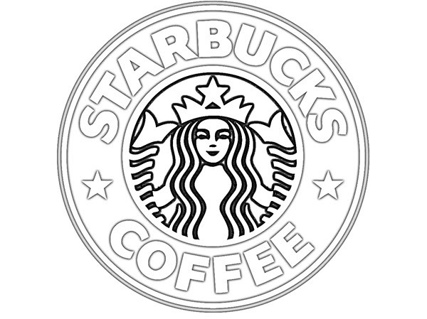 Starbucks Coloring Pages  Starbucks clipart black and white Pencil and in color