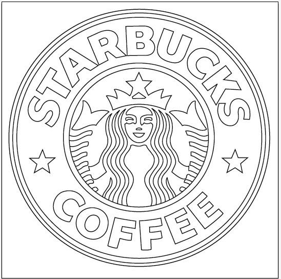 Starbucks Coloring Pages  Starbucks Logo Process 2