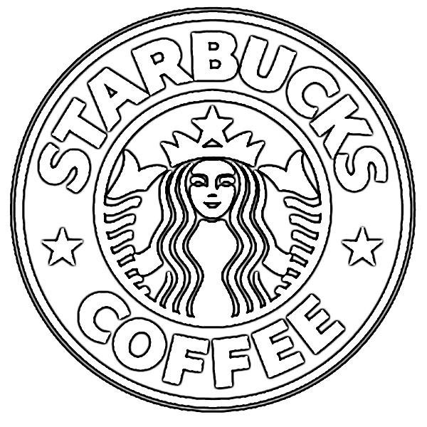 Starbucks Coloring Pages  Logo de starbucks para colorear