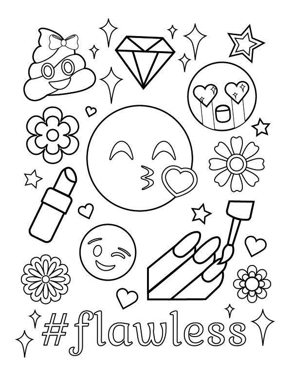 Starbucks Coloring Sheets For Girls  Starbucks Emoji Coloring Pages to Pin on