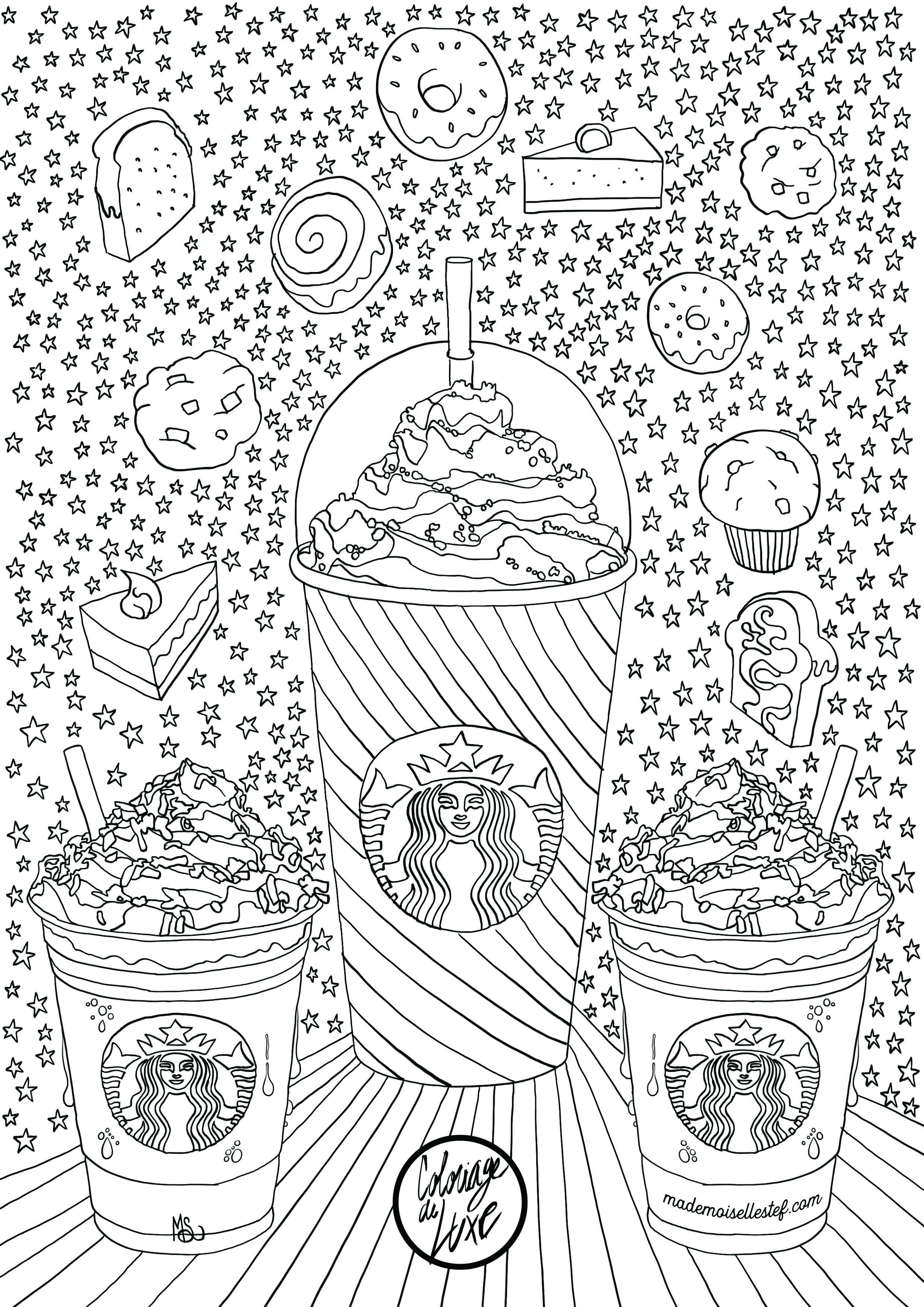 Starbucks Coloring Sheets For Girls  Coloriage Starbucks I Mademoiselle Stef Blog Lifestyle