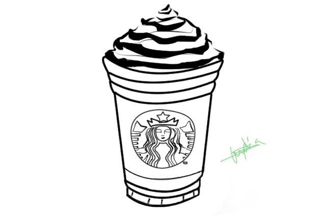 Starbucks Coloring Sheets For Girls  Starbucks Outline by Lylisima on DeviantArt