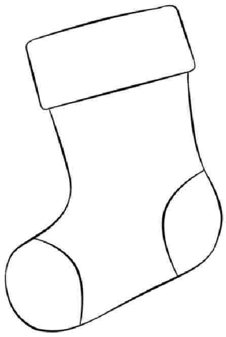 Stocking Printable Coloring Pages  6 Best of Free Printable Christmas Stocking
