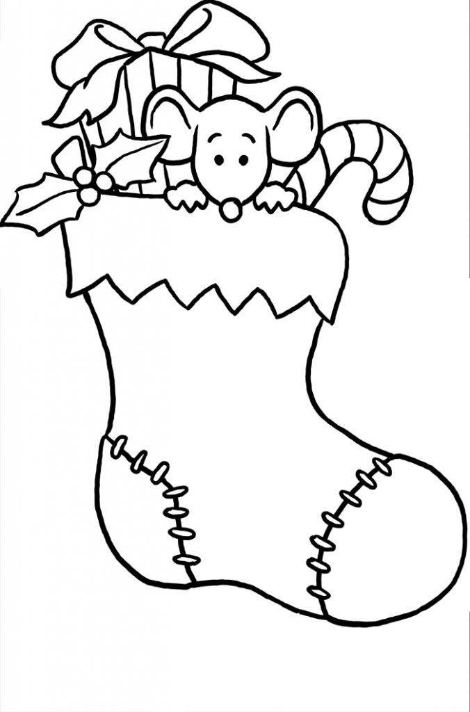 Stocking Printable Coloring Pages  Christmas Stocking Coloring Pages Best Coloring Pages