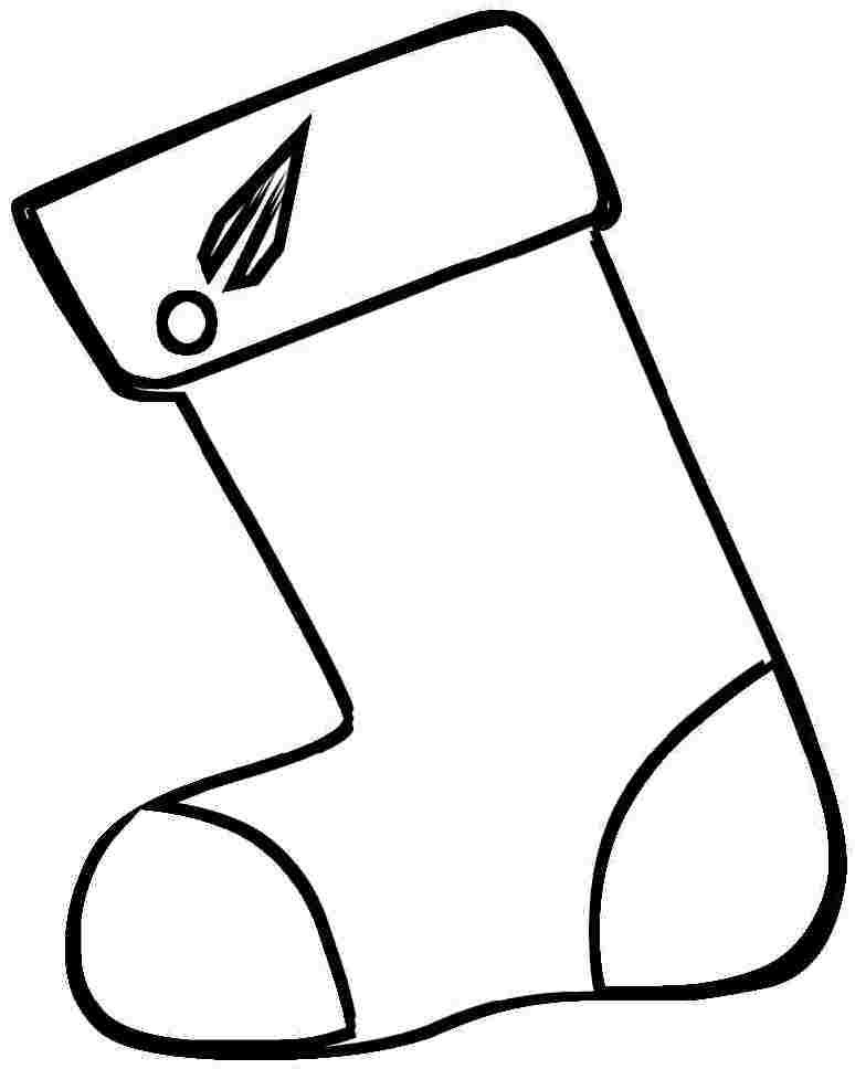 Stocking Printable Coloring Pages  Printable Christmas Stockings AZ Coloring Pages
