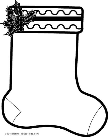 Stocking Printable Coloring Pages  Christmas Stocking Coloring Pages Part 2