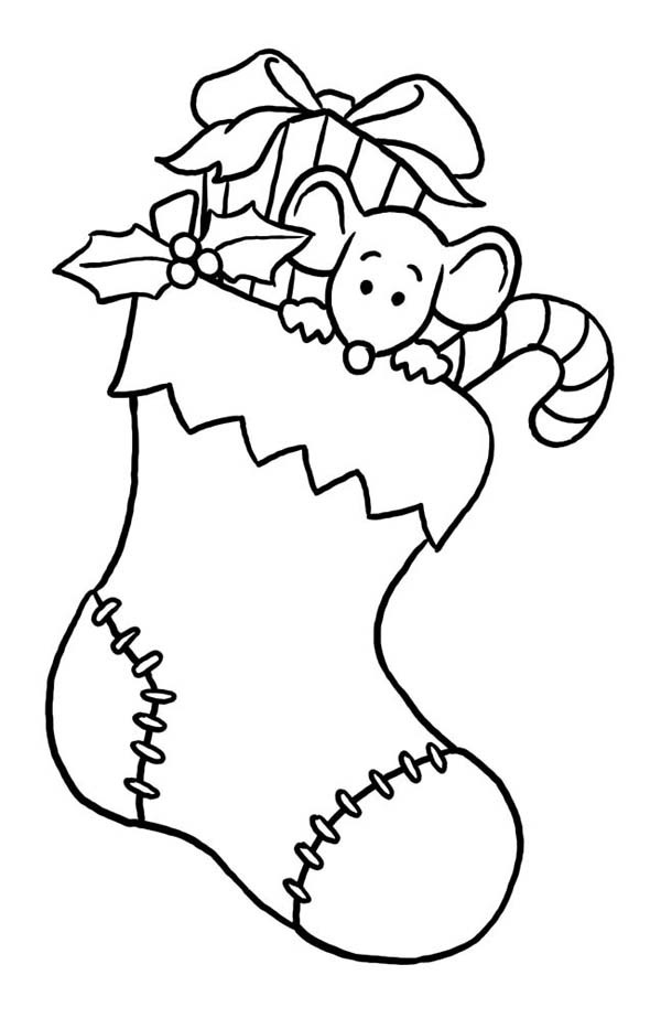 Stocking Printable Coloring Pages  Christmas Stockings Coloring Pages