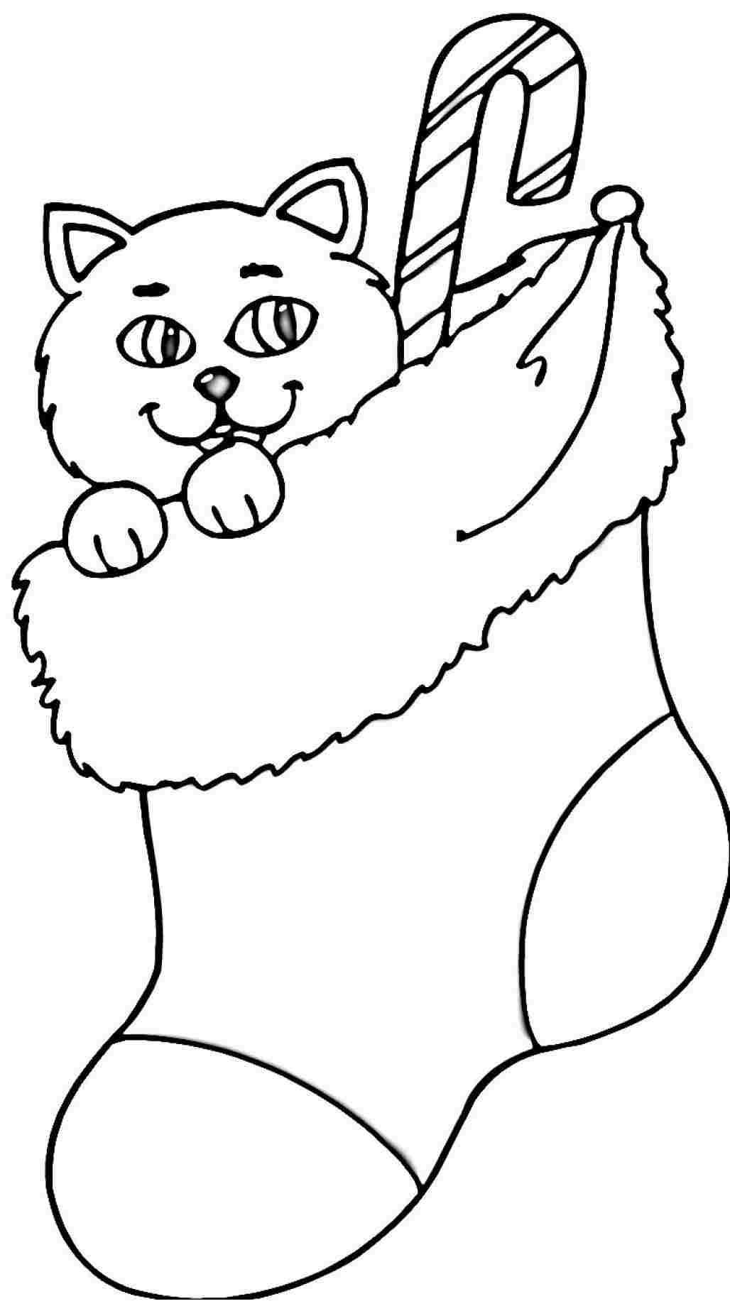 Stocking Printable Coloring Pages  Printable Christmas Stocking Coloring Pages Coloring Home