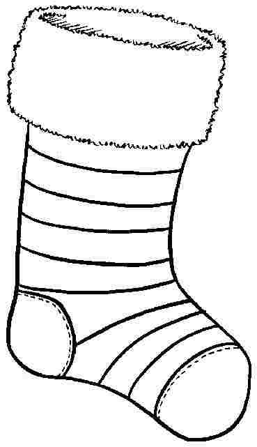Stocking Printable Coloring Pages  6 Best of Christmas Stocking Coloring Pages