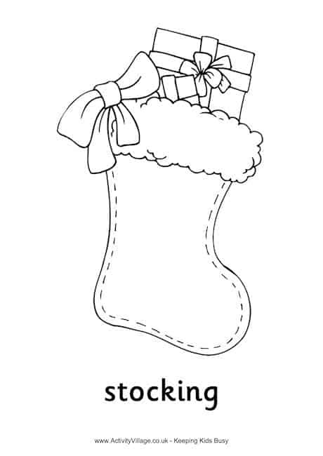 Stocking Printable Coloring Pages  6 FUN AND ENGAGING CHRISTMAS PRINTABLES