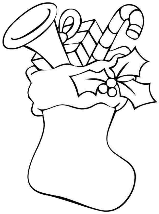 Stocking Printable Coloring Pages  Christmas Stocking Printable AZ Coloring Pages