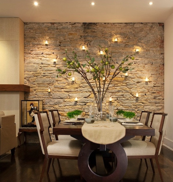 Best ideas about Stone Accent Wall . Save or Pin Choosing The Ideal Accent Wall Color For Your Dining Room Now.