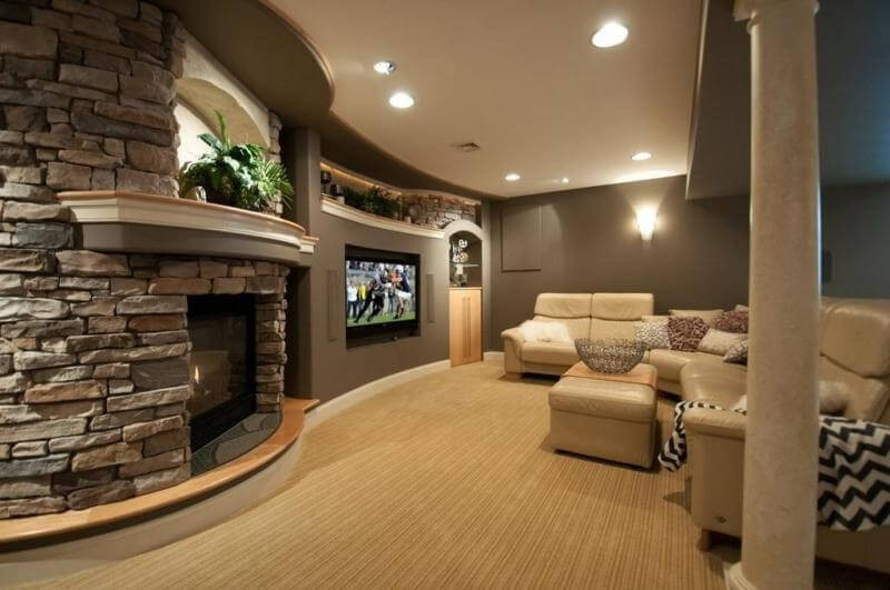 Best ideas about Stone Accent Wall . Save or Pin 21 Gorgeous Living Rooms With Accent Walls of All Styles Now.