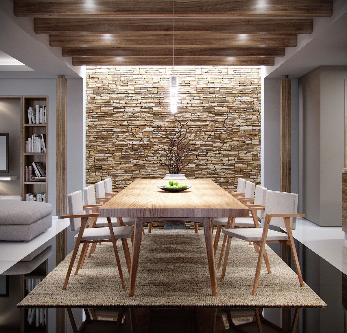 Best ideas about Stone Accent Wall . Save or Pin The Natural Side Neutral Color Palettes 5 Inspiring Homes Now.