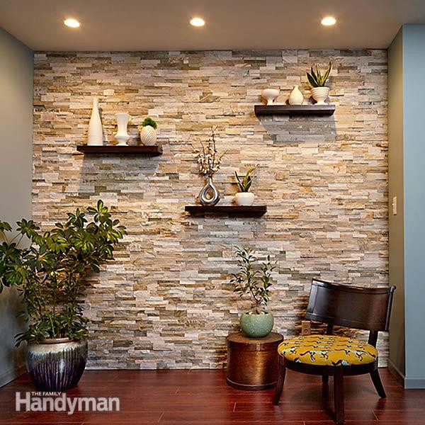 Best ideas about Stone Accent Wall . Save or Pin Create a Faux Stone Accent Wall Now.