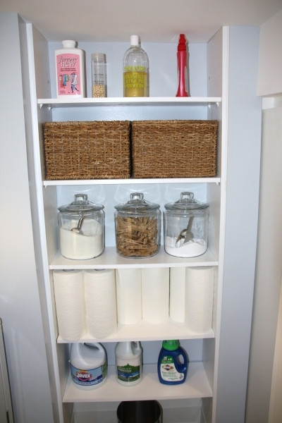 Best ideas about Storage Ideas For Small Spaces On A Budget . Save or Pin Alluring Fascinating Storage Ideas For Small Laundry Room Now.