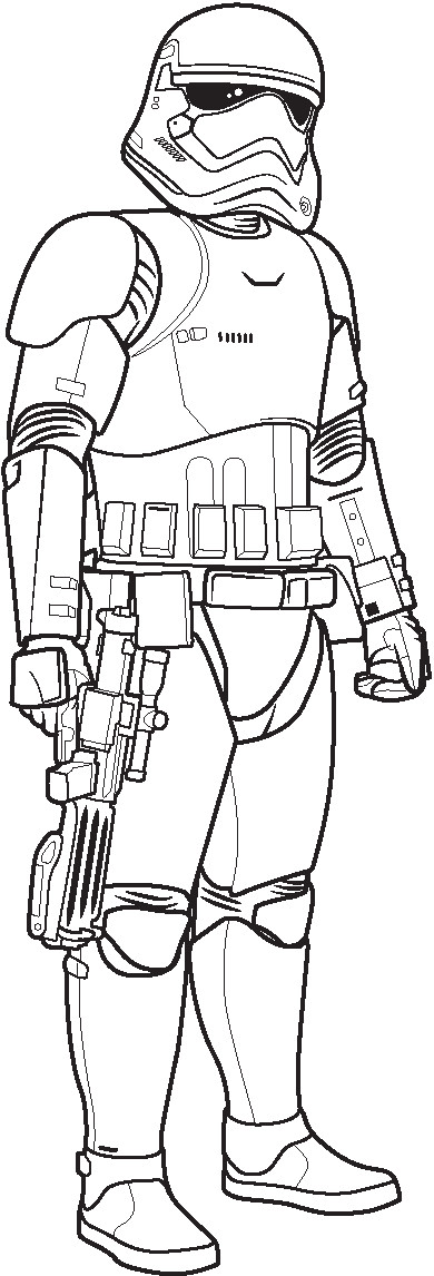 Storm Trooper Coloring Pages  Polkadots on Parade Star Wars The Force Awakens Coloring