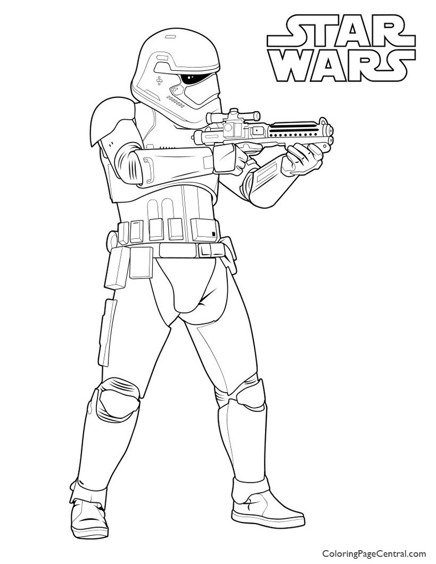 Storm Trooper Coloring Pages  Star Wars – First Order Storm Trooper Coloring Page