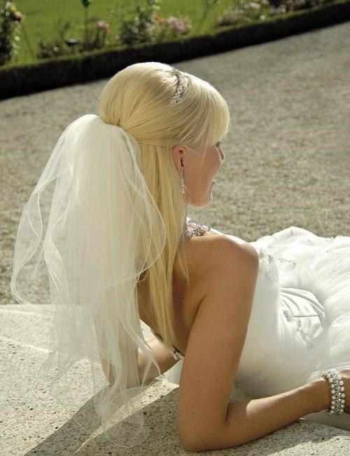 Straight Wedding Hairstyle  Half Up Half Down Wedding Hairstyles – 40 Stylish Ideas