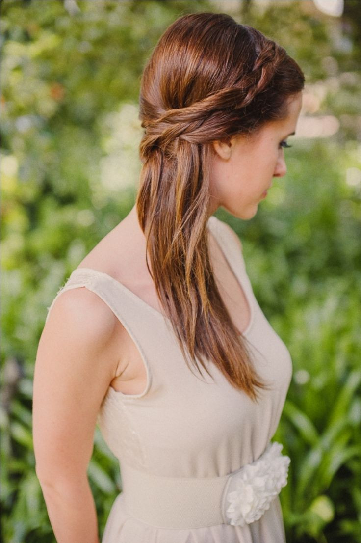 Straight Wedding Hairstyle  10 best Wedding Hairstyles For Thin Hair images on
