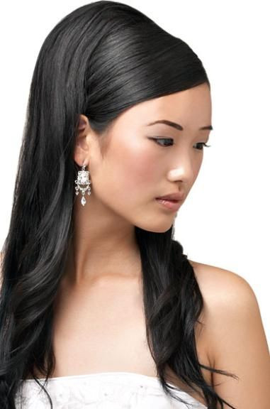 Straight Wedding Hairstyle  Bridal Hairstyles Ideas for Straight Hair with Decorative