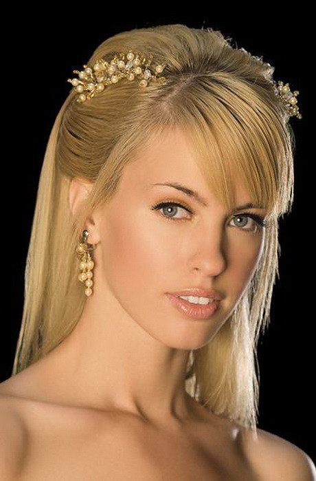 Straight Wedding Hairstyle  Straight bridal hairstyles