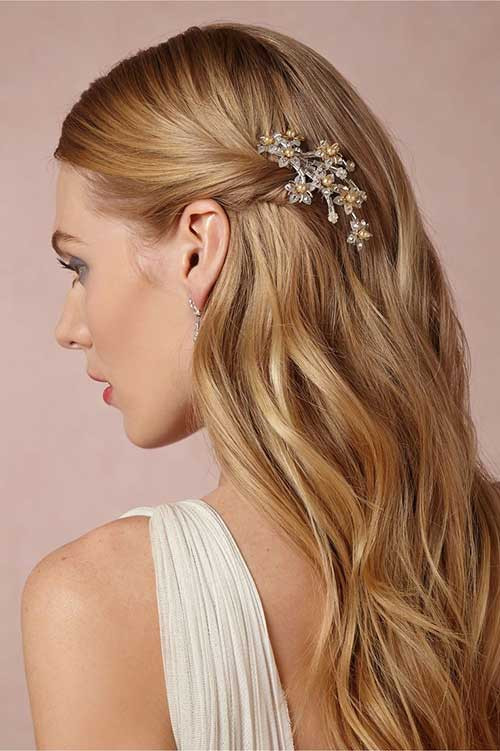 Straight Wedding Hairstyle  Best Wedding bs for Hair