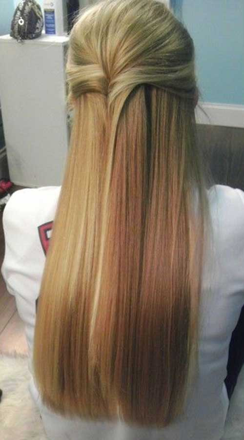Straightened Hairstyles For Prom  10 Straight Formal Hairstyles