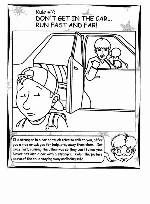 Best ideas about Stranger Danger Printable Coloring Pages . Save or Pin Stranger Danger Coloring Pages Bestofcoloring Now.
