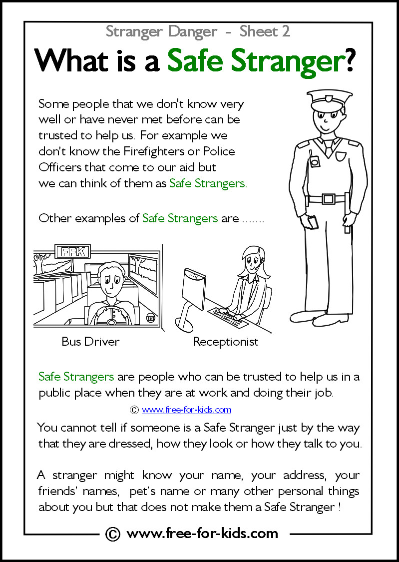 Best ideas about Stranger Danger Printable Coloring Pages . Save or Pin Stranger Danger Worksheets and Colouring Pages Now.